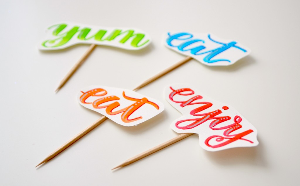 hand lettered picks