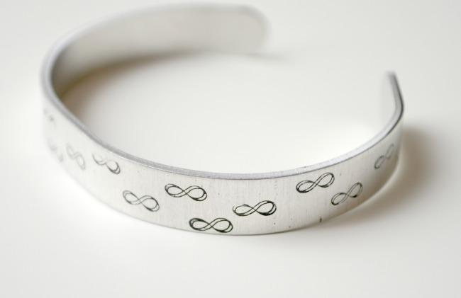 Metal Stamped Infinity Bracelet