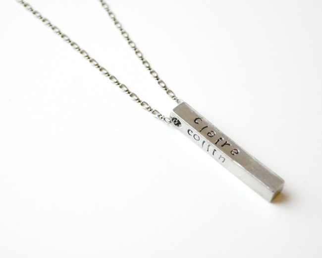 Metal Stamped Mother Necklace