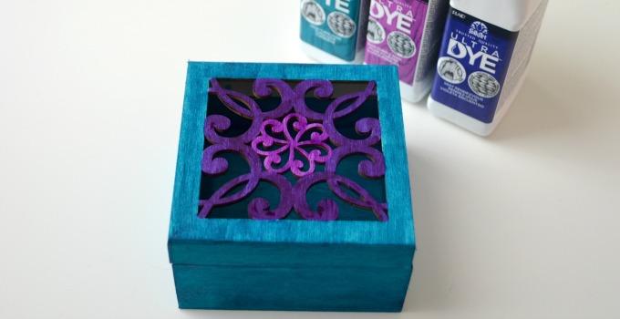 DIY Dyed Jewelry Box using FolkArt Ultra Dye