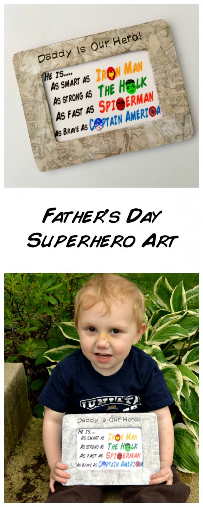 Father's Day Superhero Art