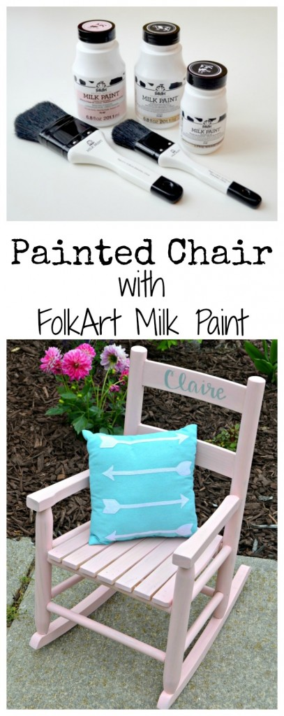 Painted Chair with FolkArt Milk Paint