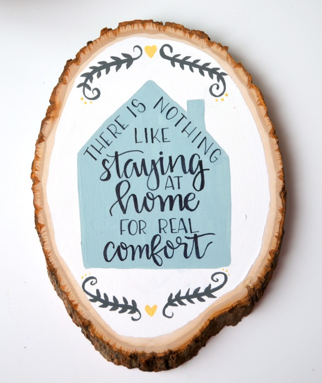 Comfortable Home Wooden SIgn