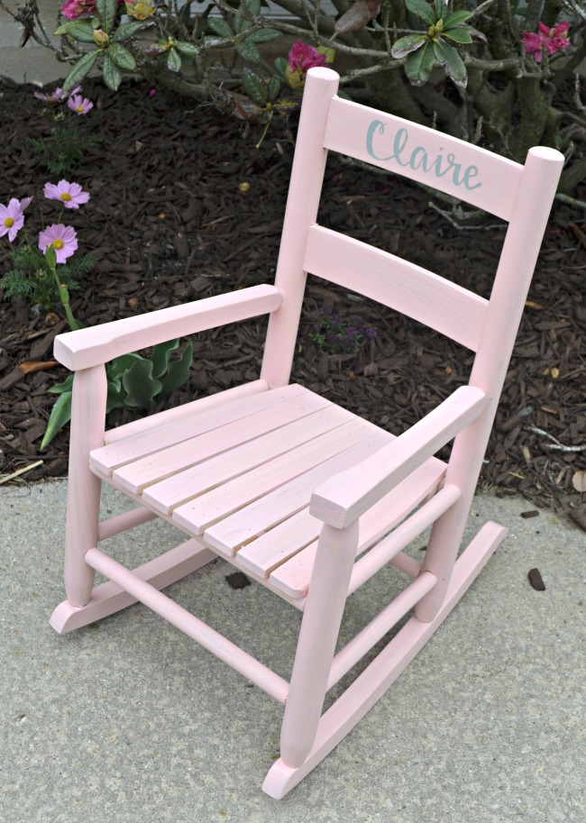 Painted Rocking Chair with FolkArt Milk Paints
