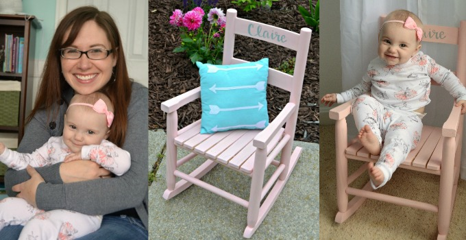 Child's Rocking Chair with FolkArt Milk Paint