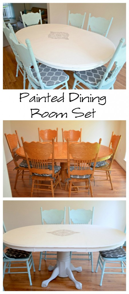 painted dining room set