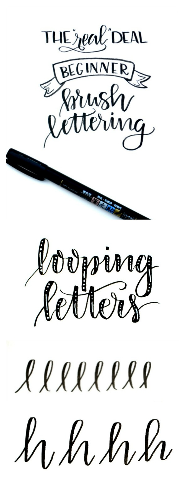Beginner Brush Lettering: Looping Letters