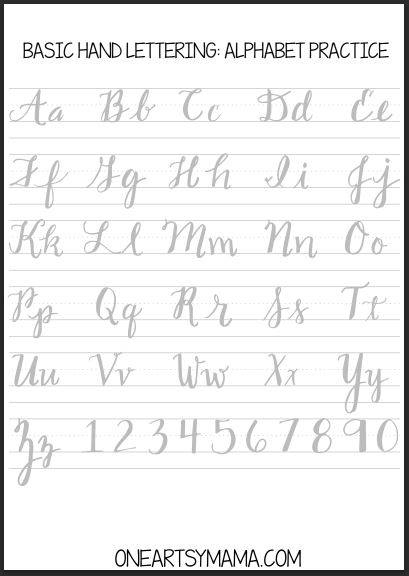 Practice brush lettering with cursive handwriting worksheets ...