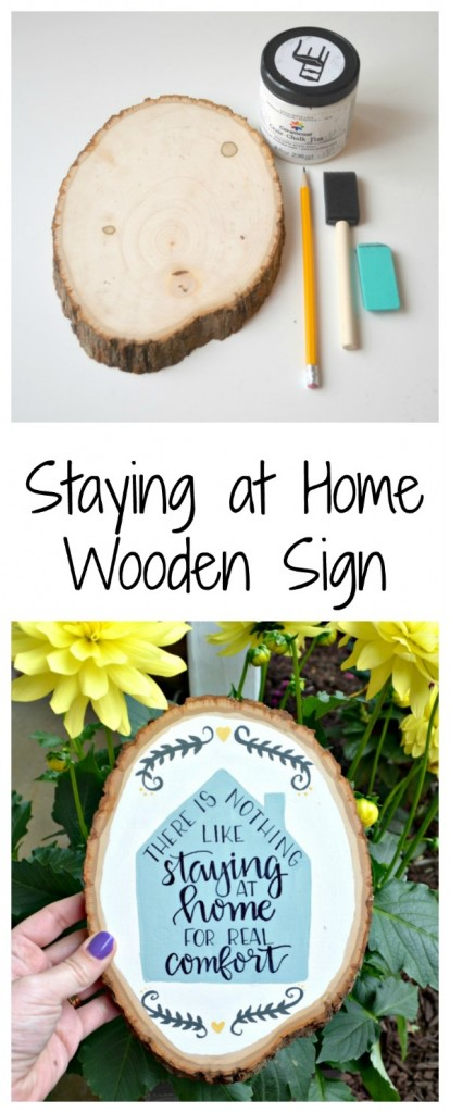 Painted Wooden Home Sign