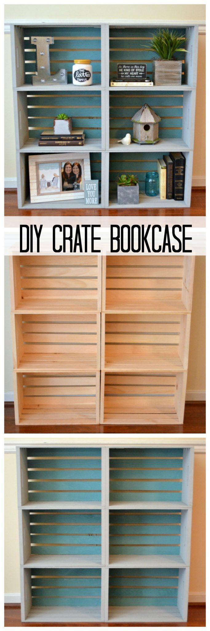 Diy crate bookcase amy latta creations diy crate bookcase solutioingenieria Choice Image