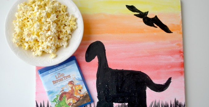 The Land Before Time Movie Night & Dinosaur Canvas Art