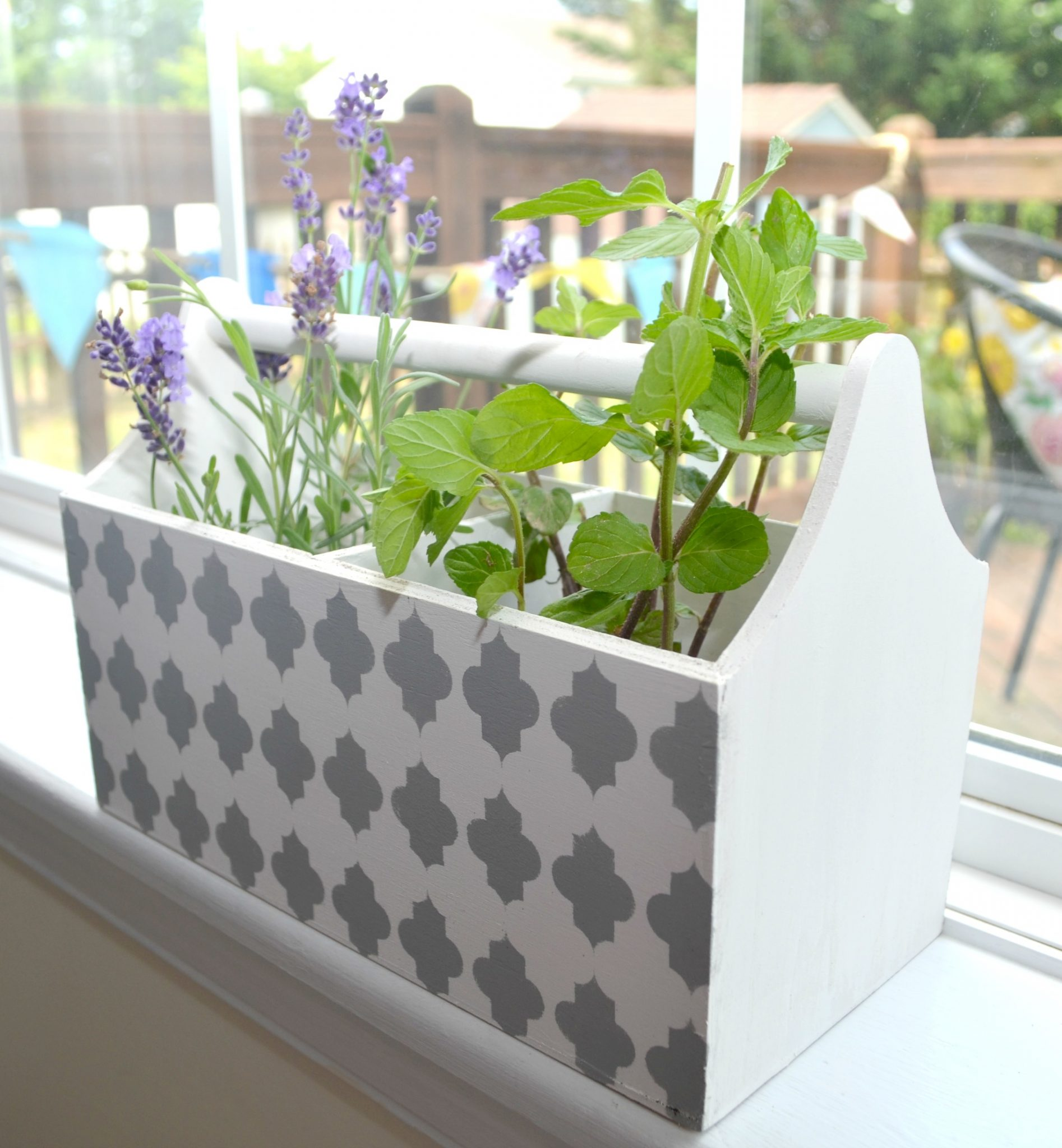 Stenciled Herb Box