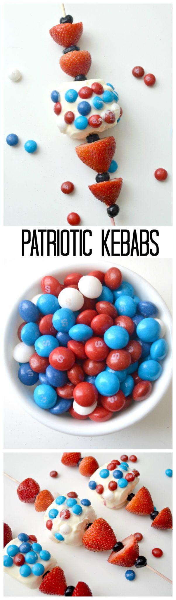 Patriotic Kebabs Dessert Idea