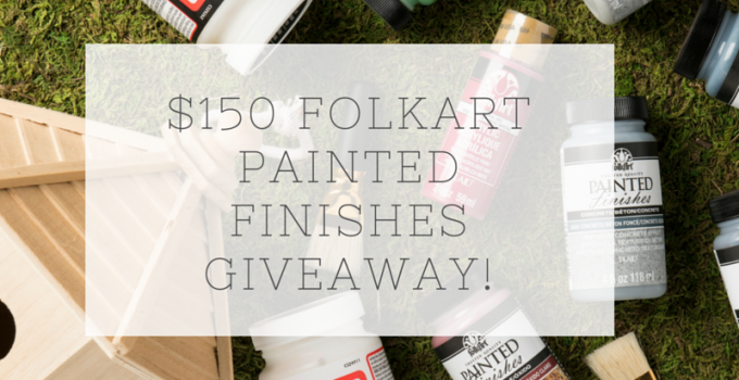 FolkArt Painted Finishes & Mod Podge Giveaway!