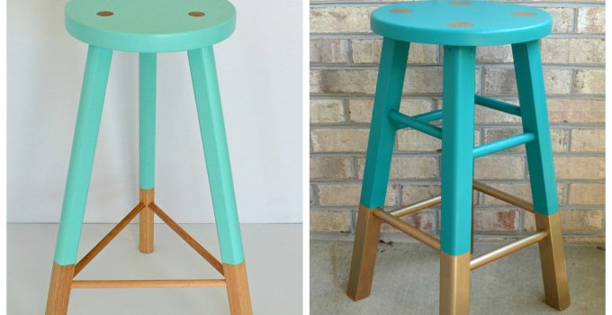 Thrift Store Challenge: Babanees Inspired Painted Stool