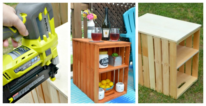 DIY Wooden Crate Outdoor Table