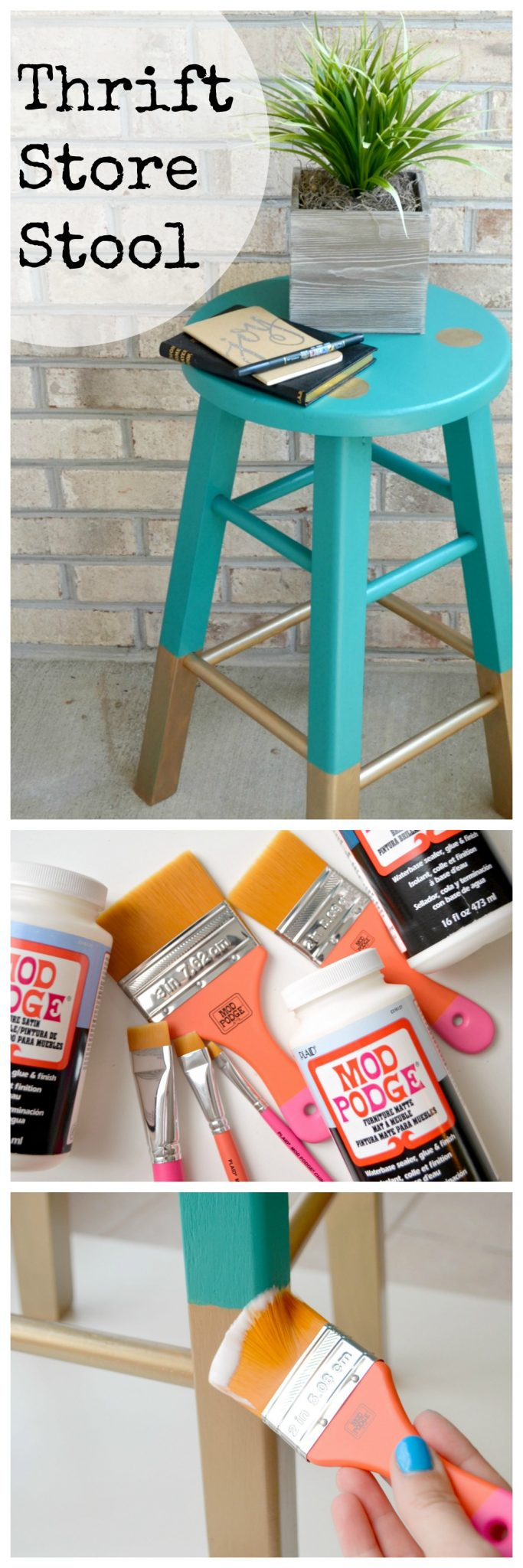 Thrift Store Stool Makeover