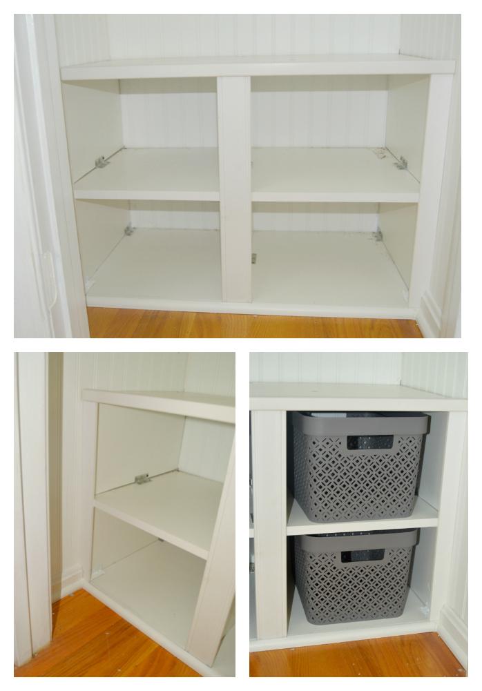 Coat Closet Turned Mini Mudroom