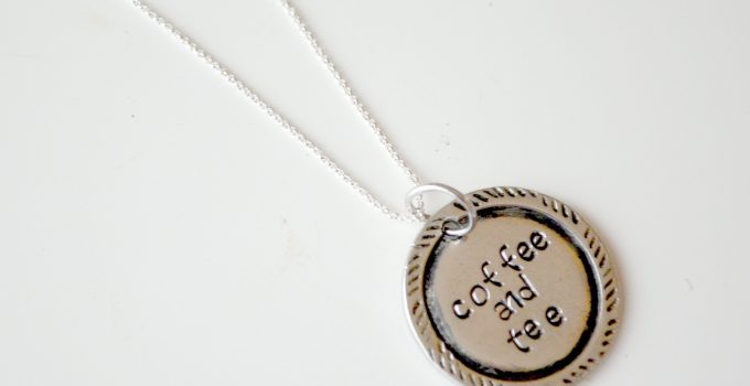 Stamped Necklace with Border Designs
