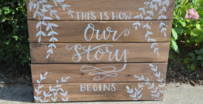 Rustic Hand Lettered Wedding Signs
