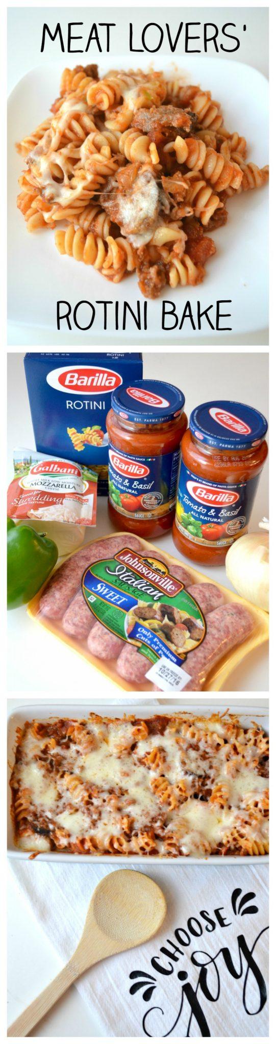 Meat Lovers' Rotini Bake Recipe
