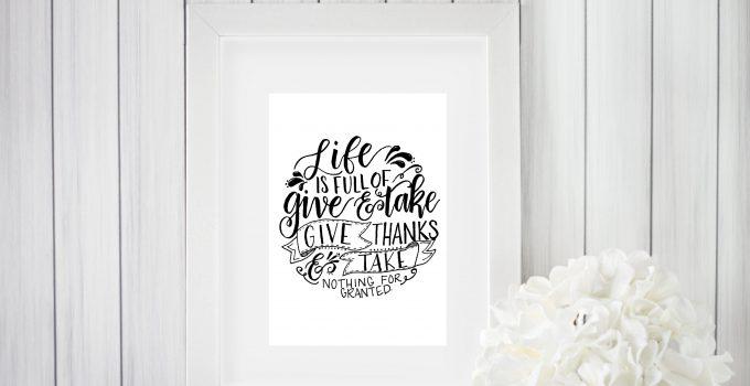 Give and Take Printable