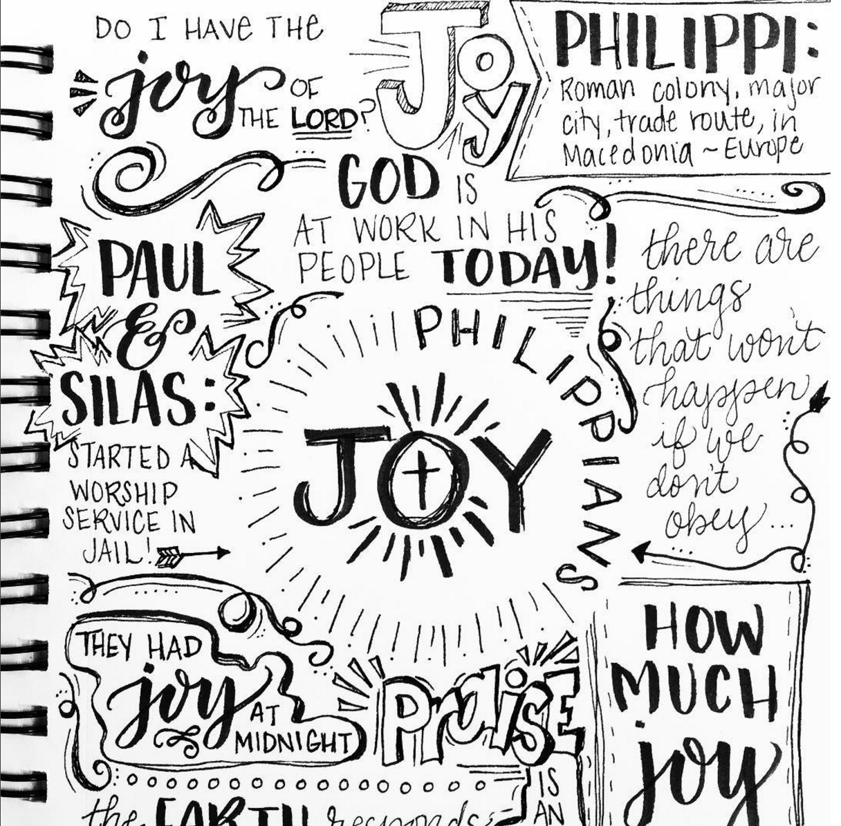 Hand Lettered Sermon Notes