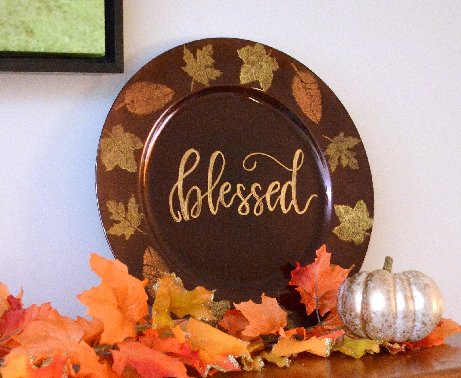 Stenciled Fall Chargers