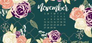 November Calendar Freebies - One Artsy Mama
