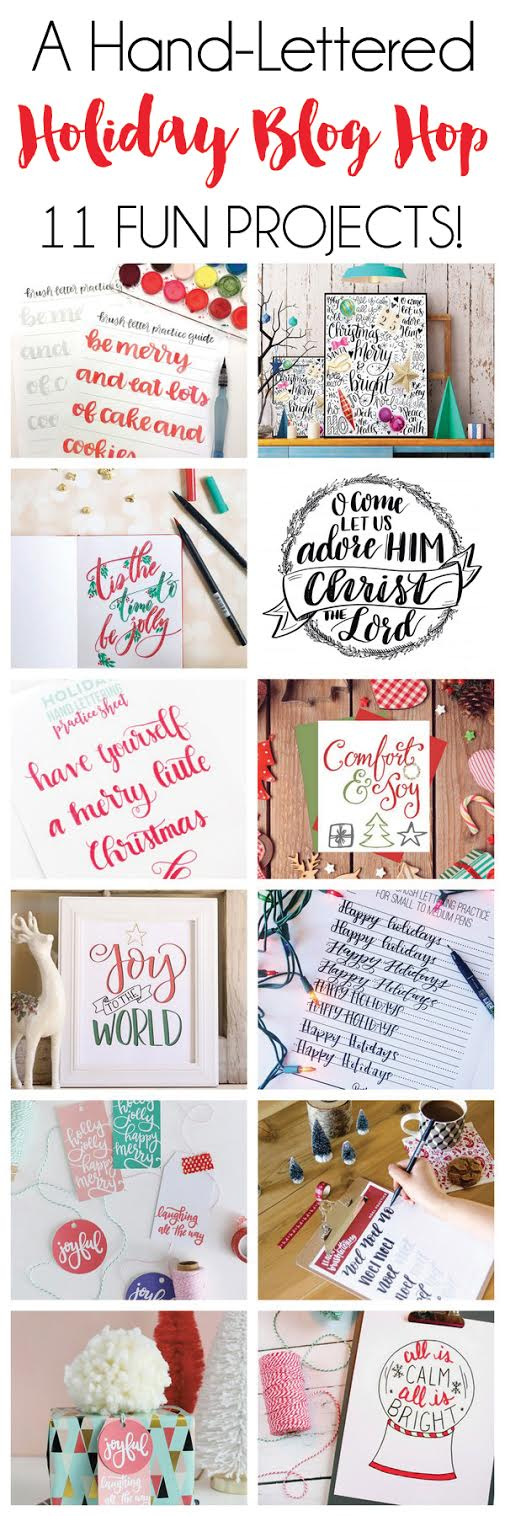 Hand Lettered Holiday Printables, Tutorials, and Worksheets