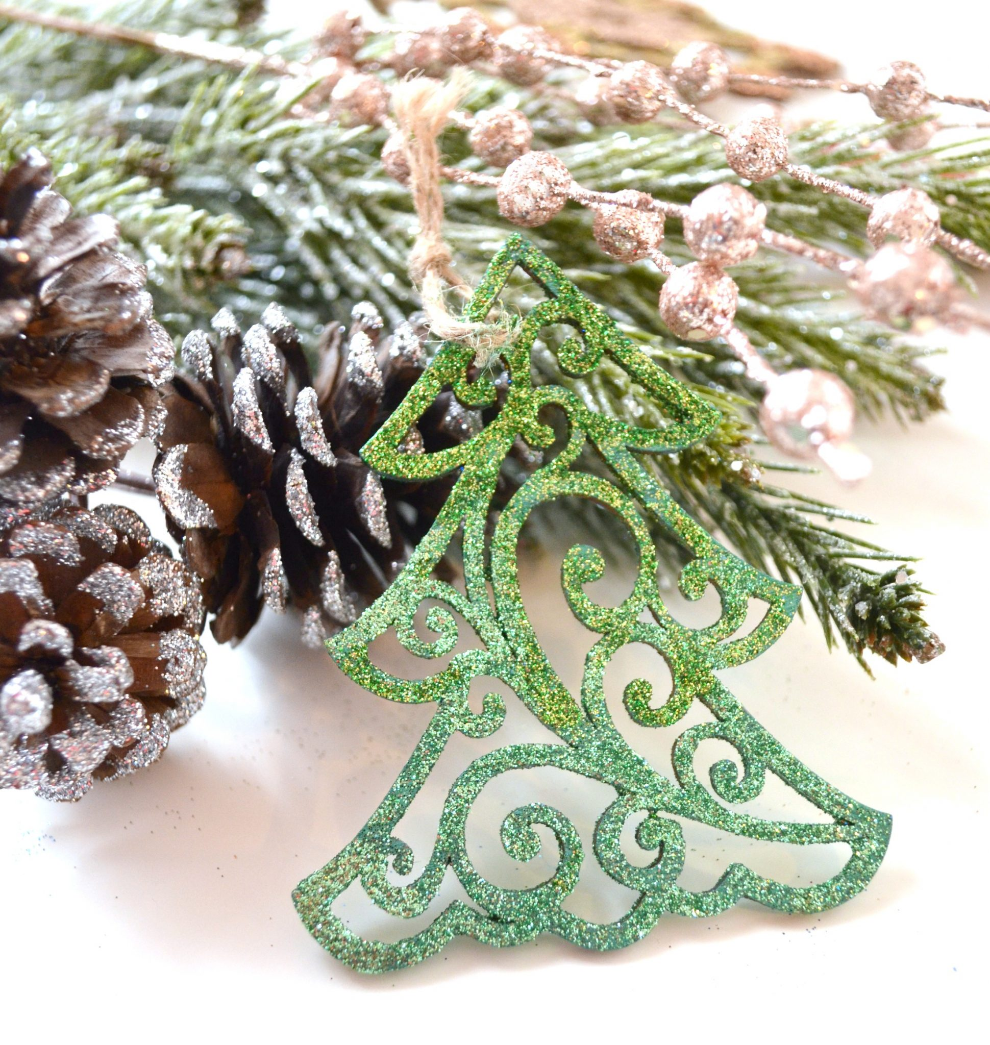 Glitter Tree Ornaments