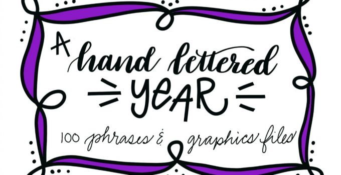 A Hand Lettered Year of Seasonal Clip Art