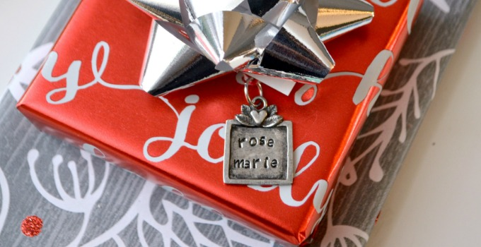 Metal Stamped Gift Tag Ornament