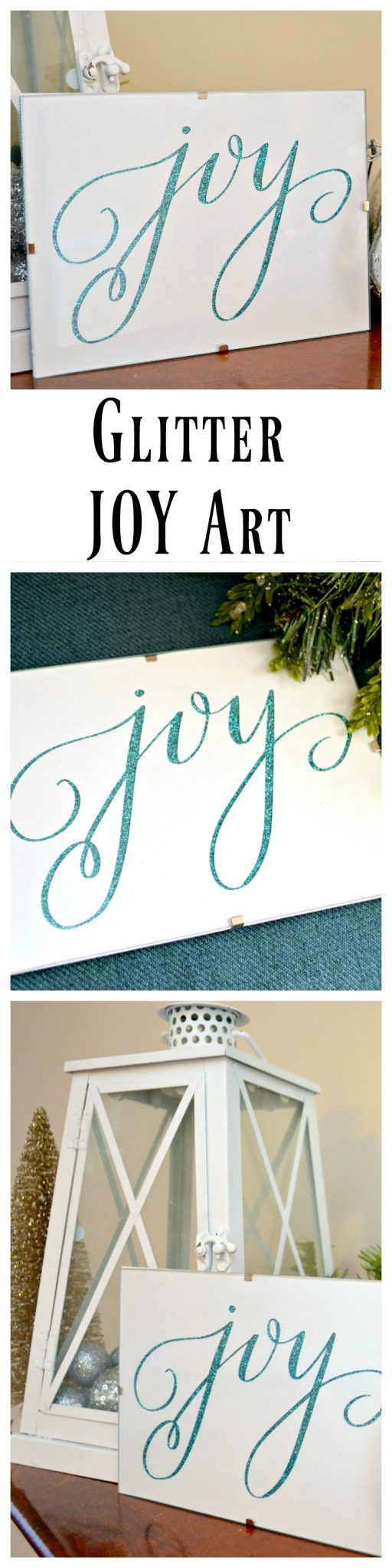 Glitter Joy Art for Christmas