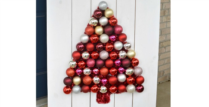 DIY Ornament Tree Display