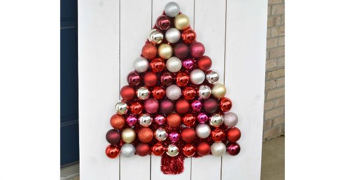 DIY Ornament Tree Display