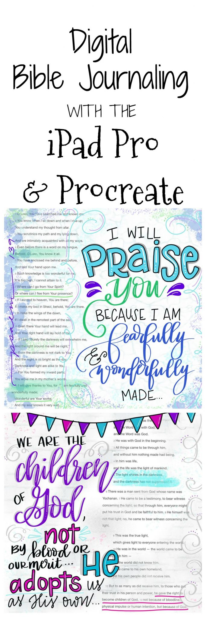 Digital Bible Journaling with the iPad Pro