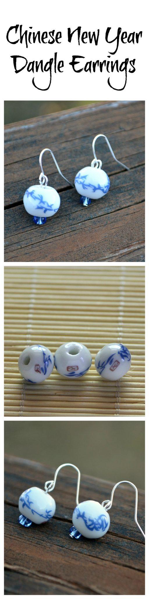 Chinese New Year Dangle Earrings