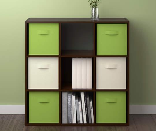 Green Fabric Bins