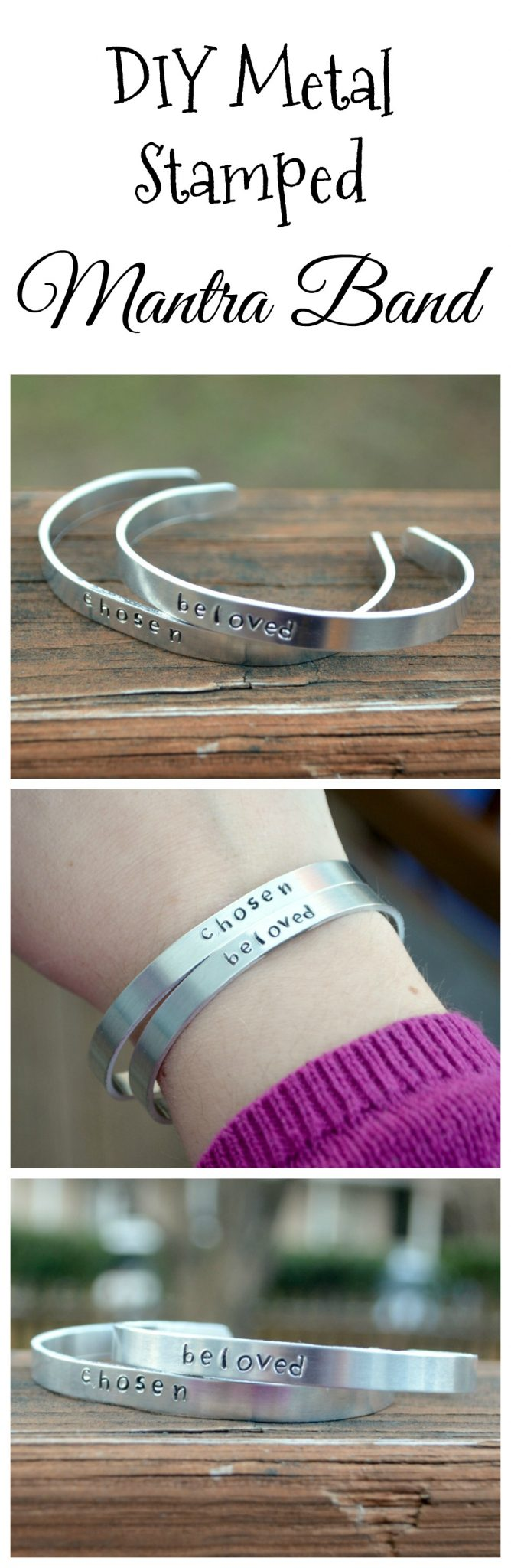 DIY Metal Stamped Mantra Bands