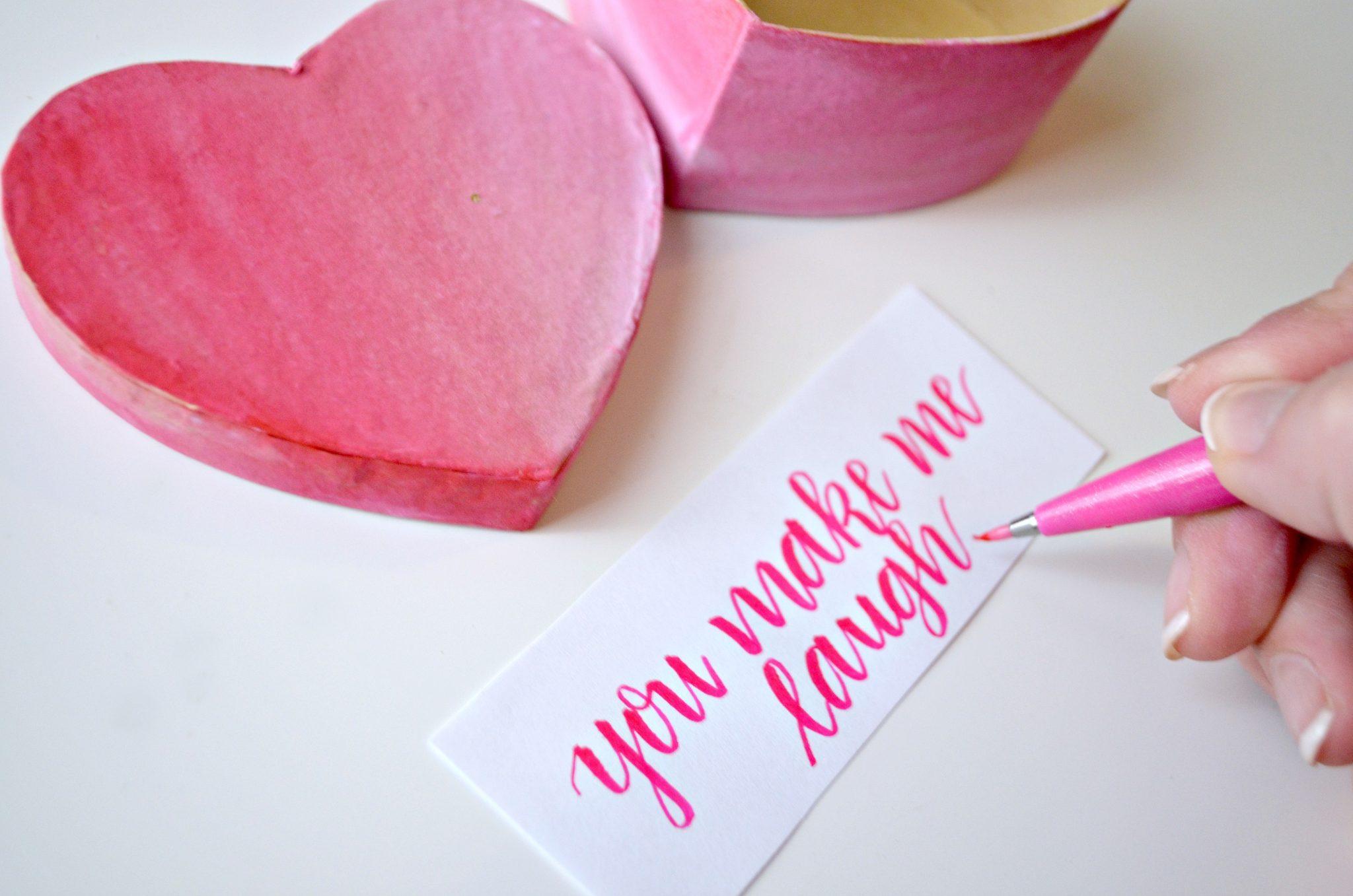 Valentine Love Note Box