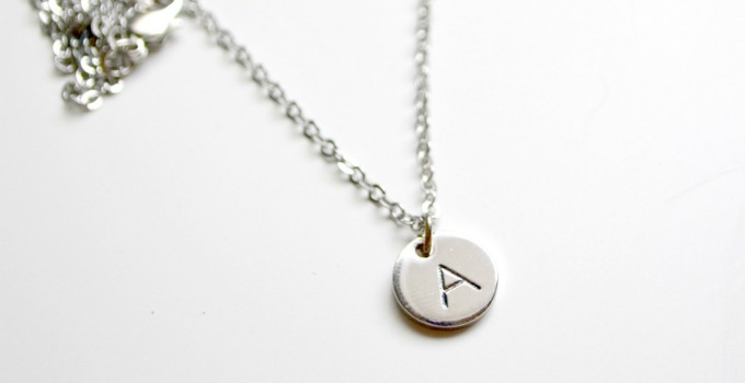 Tiny Monogram Pendant with Personal Impressions