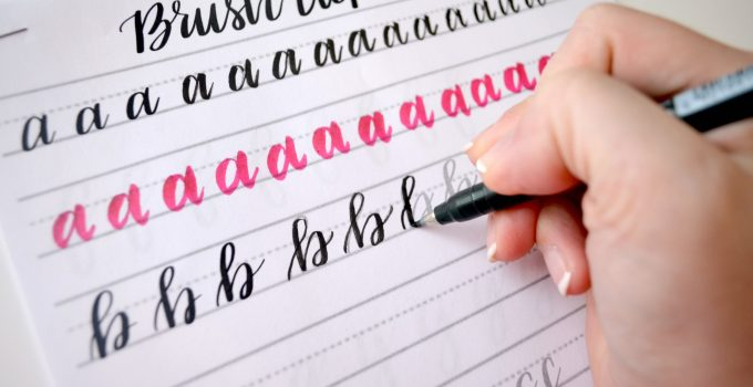 Free Brush Lettering Practice Sheets: Lowercase Alphabet