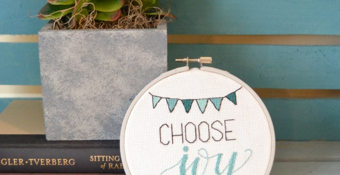 Hand Lettered Embroidery Design