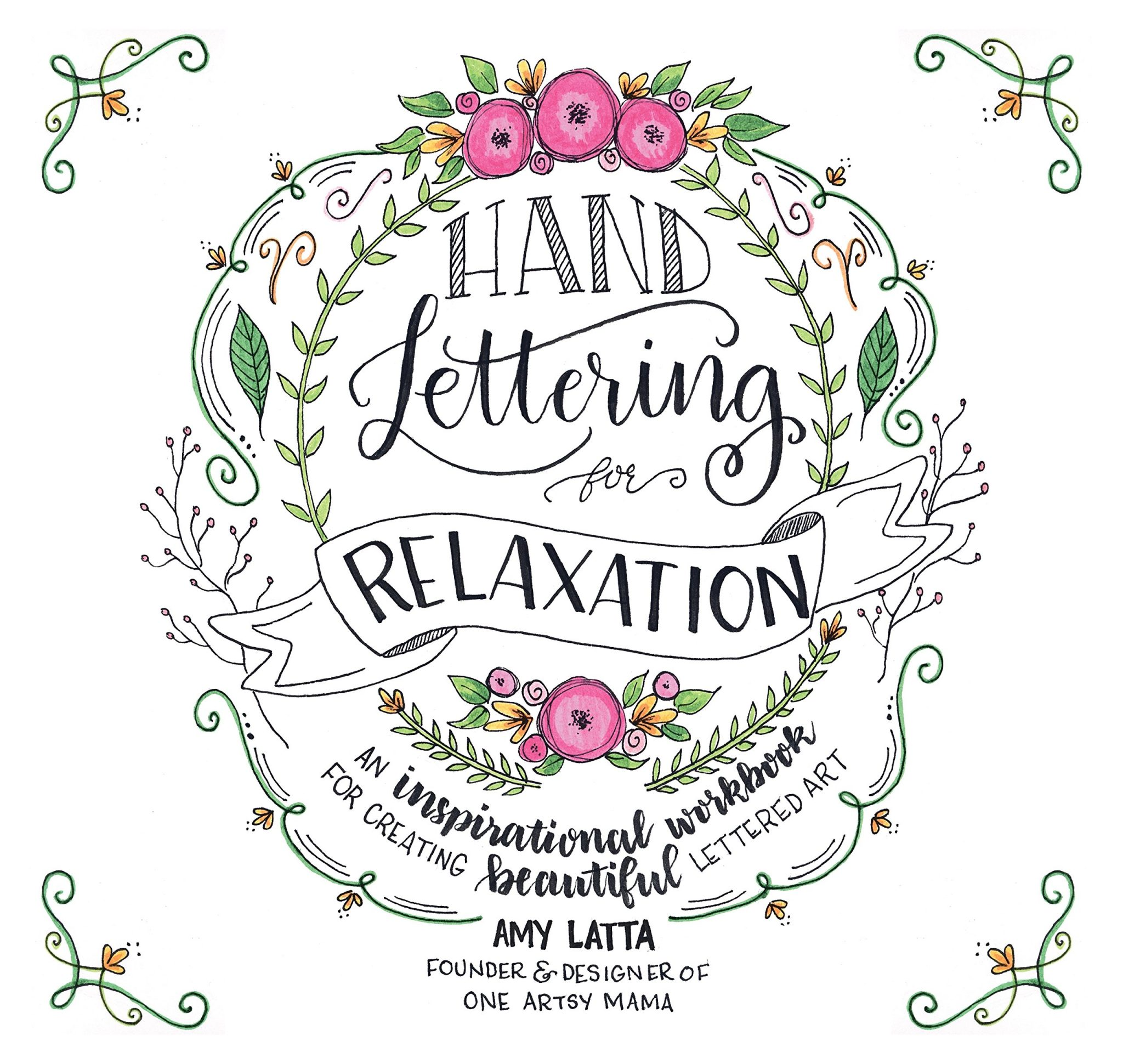 Hand lettering for relaxation book amy latta creations