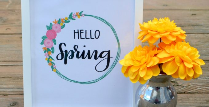Hello Spring Practice Pages & Printable {plus a giveaway!}