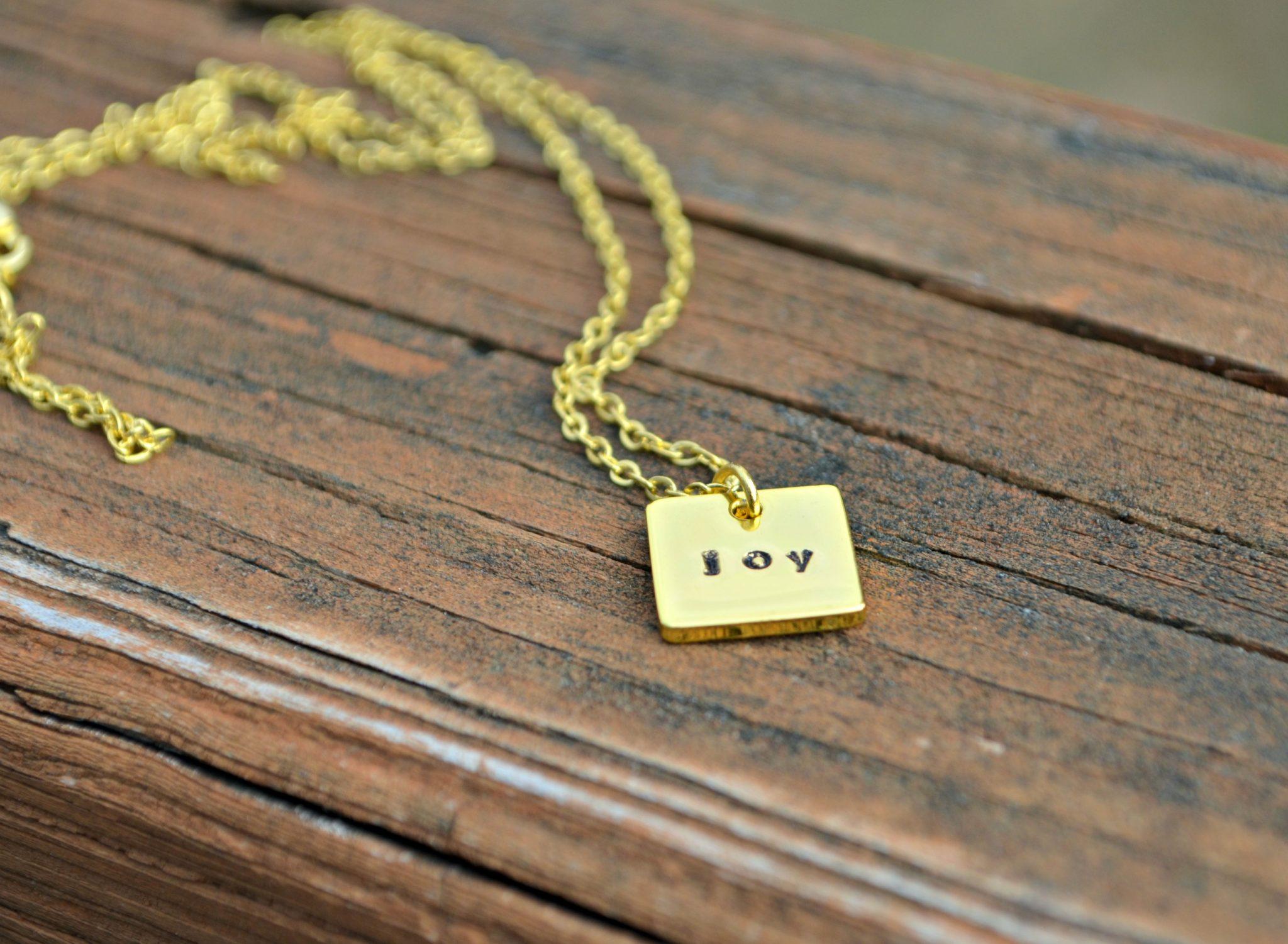 Joy Stamped Pendant