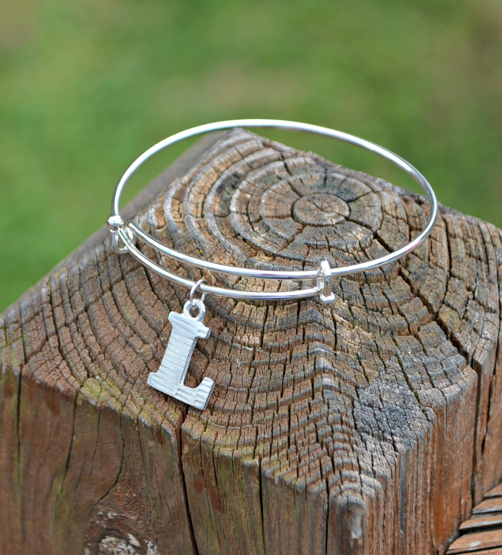 Expandable Charm Bracelet, Monogram