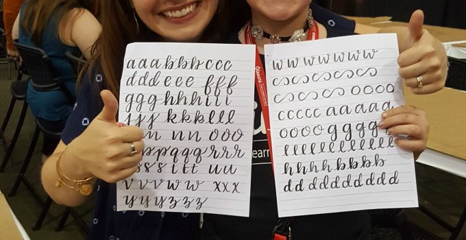 Pinners Conference Recap: Basic Brush Lettering Class