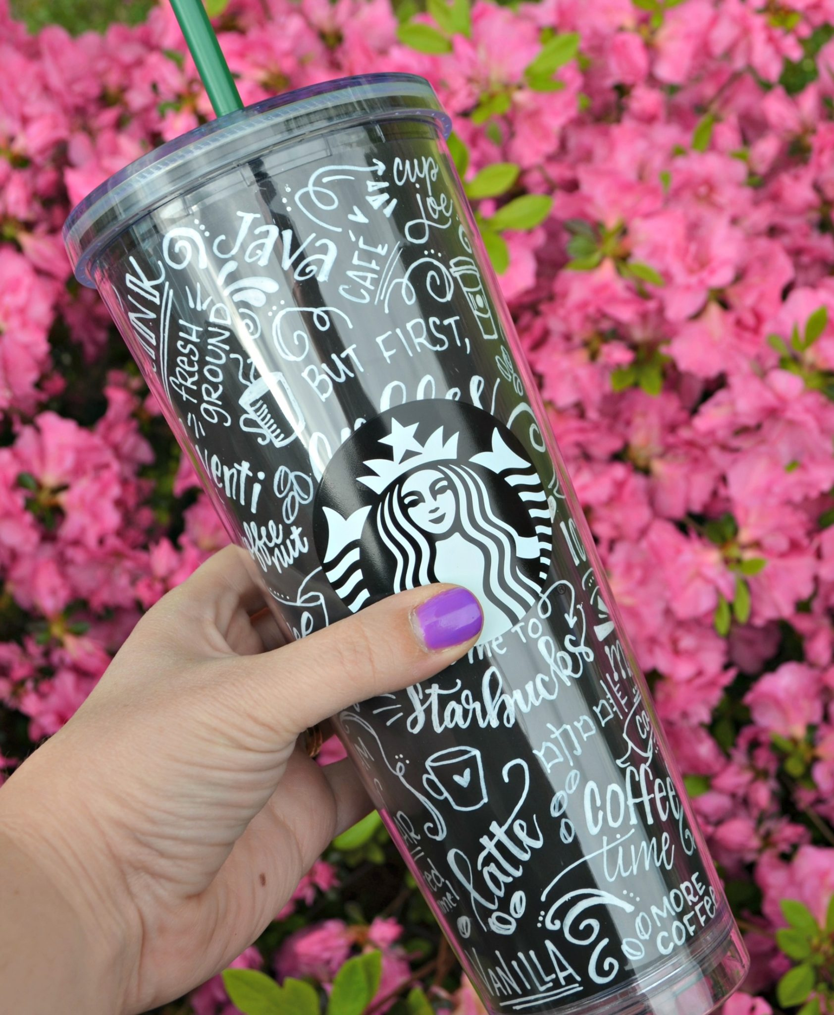 Chalk Art Coffee Cup